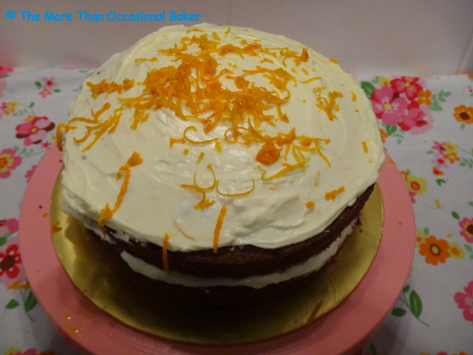 The more than occasional baker: Carrot cake with orange ...