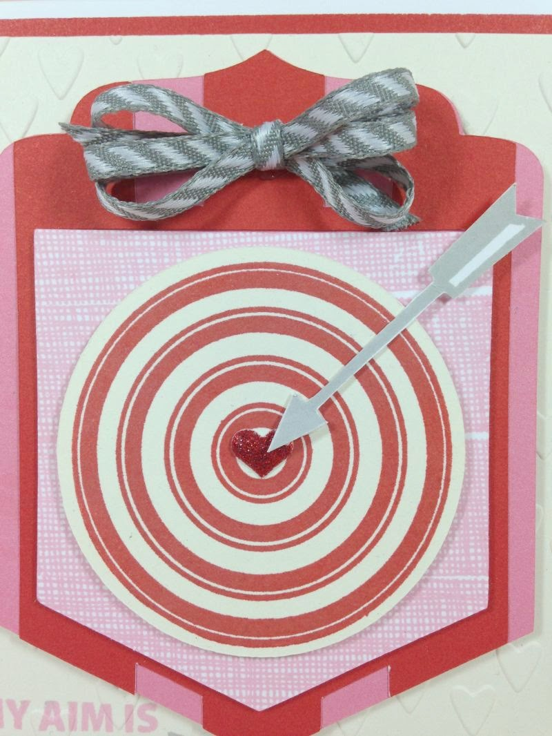 Cricut Bullseye card closeup