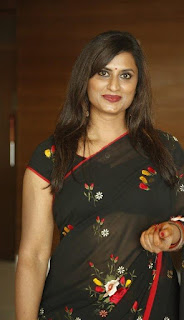Singer kousalya black saree new photos