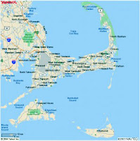 A map of Cape Cod and the islands