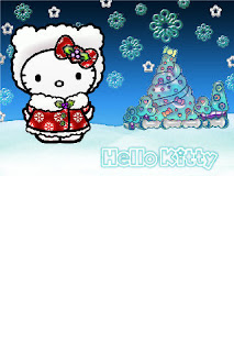 Hello Kitty Christmas iPhone wallpaper background 320x480