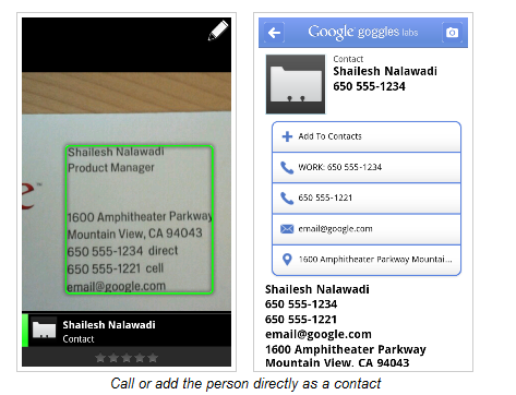 Scan business cards and add to contacts with google for Scan business cards into google contacts