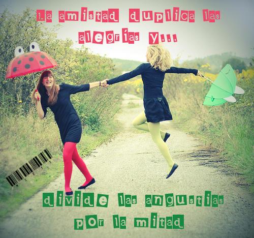 imágenes con frases de amistad  de amigas