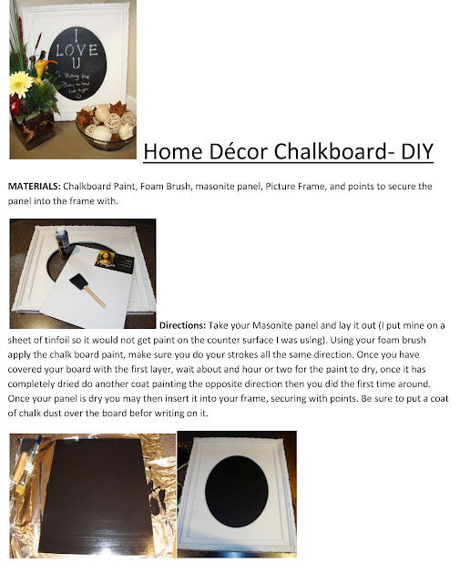 Home Decor Chalkboard Diy