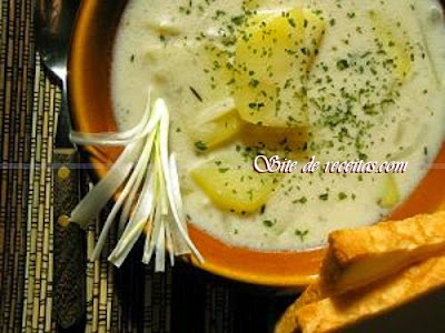 Sopa cremosa de batata