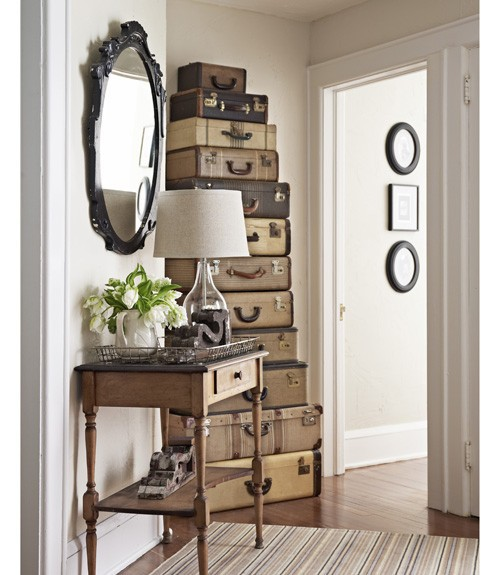 Eye For Design Decorating With Trunks and Luggage