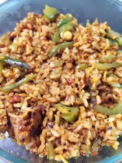 Capsicum Rice / Capsicum Bhath