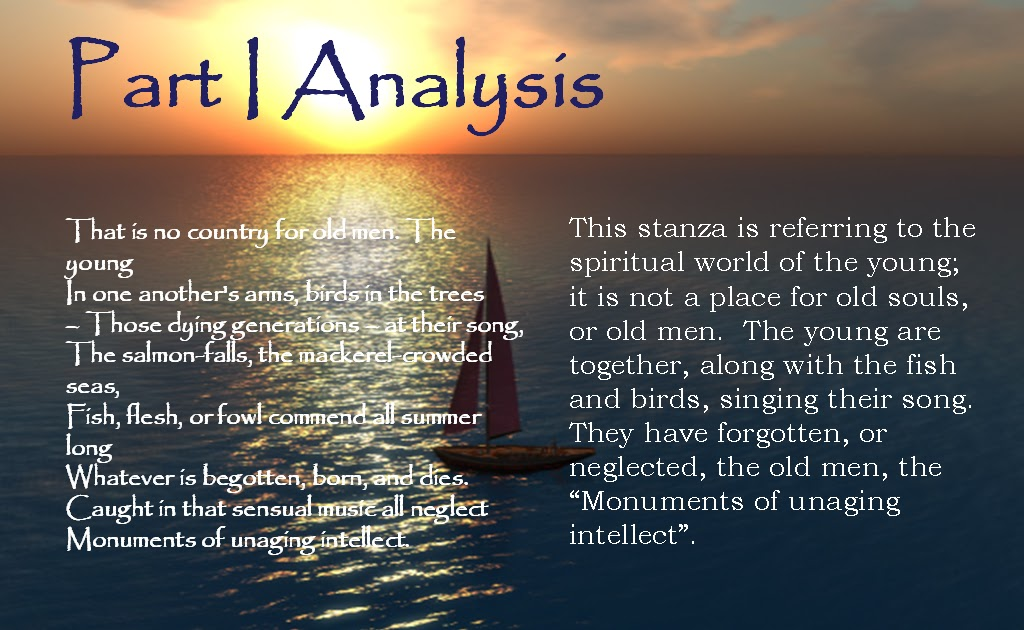 sailing to byzantium prose commentary Sailing to byzantium by william butler yeats: summary and poem sailing to byzantium written in 1926 is an emphatic reminder of the poet's keen interest in that historic city of eastern empire and the significance of art and culture.