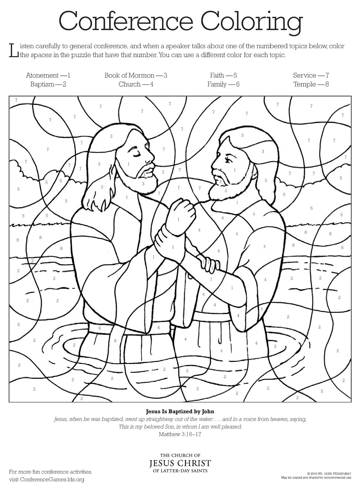 baptism coloring pages for children - photo#31