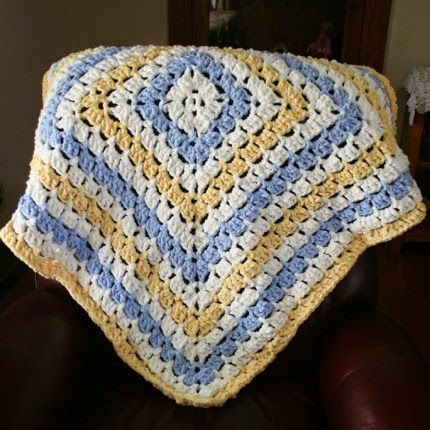 From the Middle Baby Blanket - Free Pattern