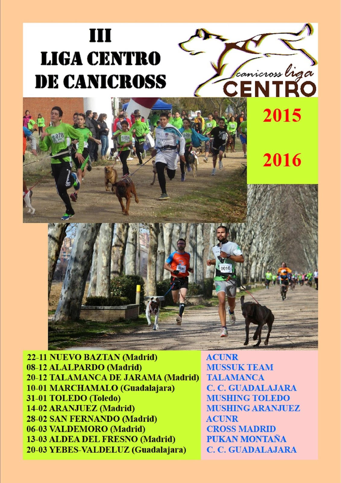 canicross calendario