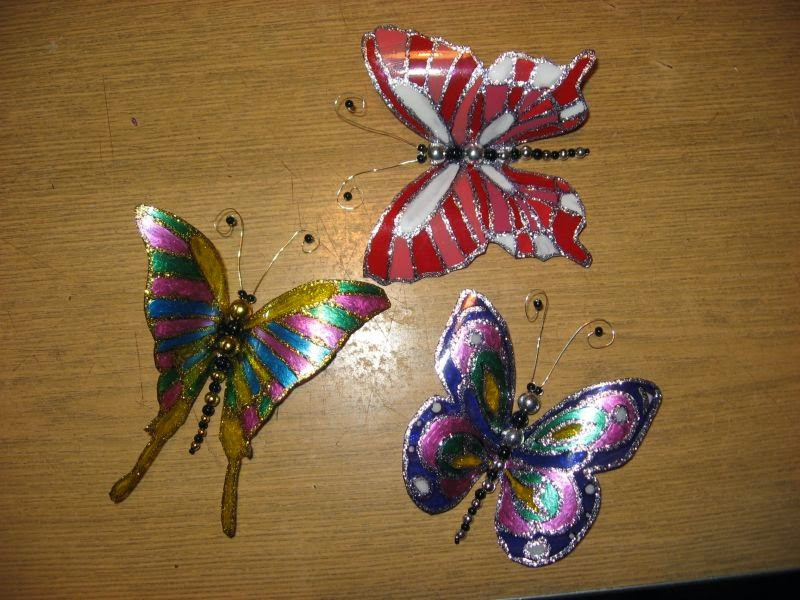 Бабочка из пластиковой бутылки своими руками фото 30