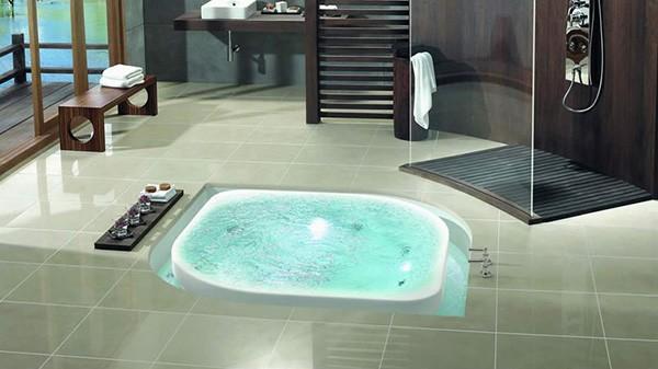 Sunken Tub Bathroom Designs