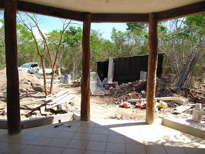 jardín casa Tulum antes