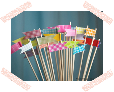WASHI TAPE DIY TUTORIAL TOPPER FLAG /TUTORIAL PARA HACER BANDERINES CON WASHI TAPE
