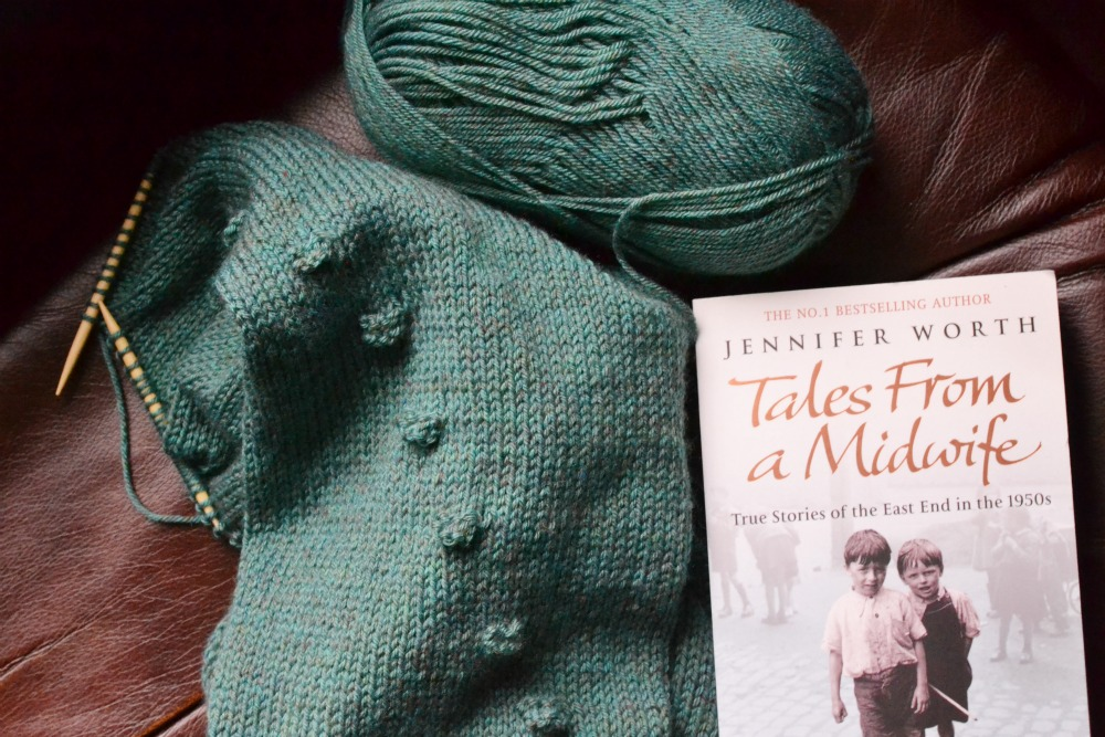 knitting reading bobble cowl scarf call the midwife trilogy book paperback
