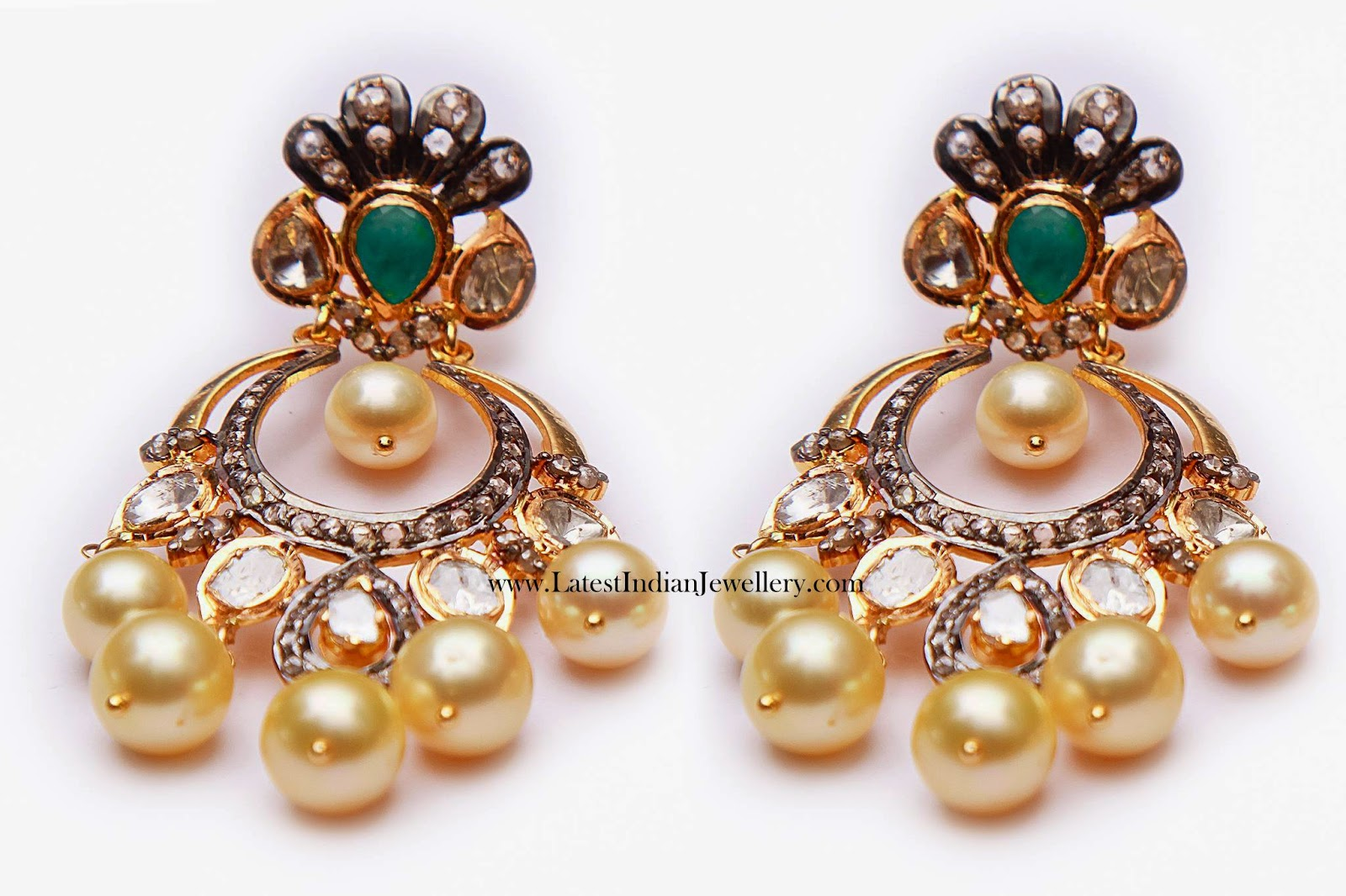 Trendy Polki Diamond Chand Balis