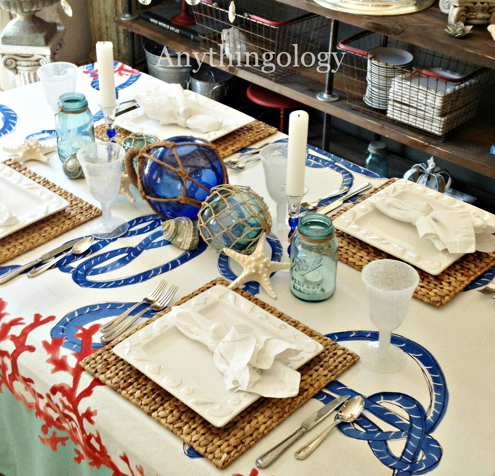 Nautical Decor Centerpieces: Anythingology: Nautical Dinner Party
