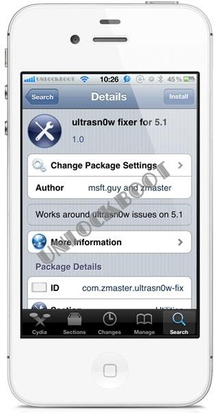 Unlock IOS 5.1 baseband Ultrasn0w Fixer