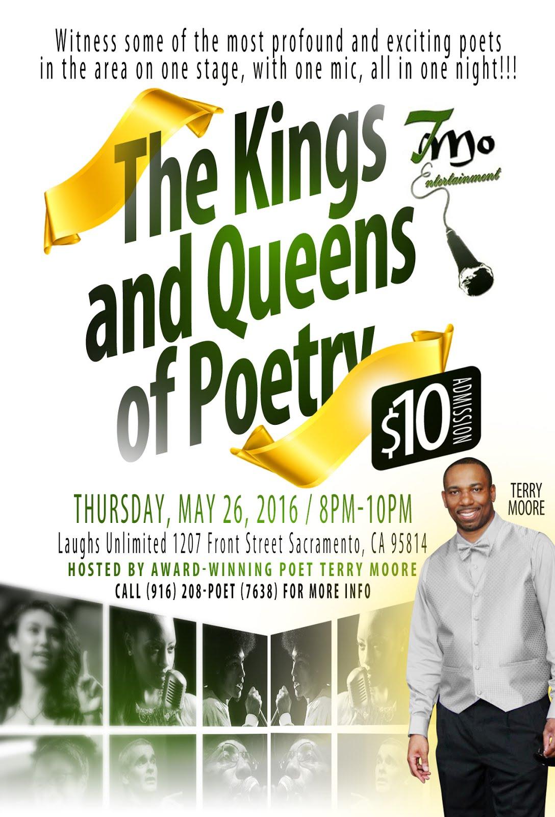 KINGS & QUEENS OF POETRY in Sac. Thurs. (5/26)