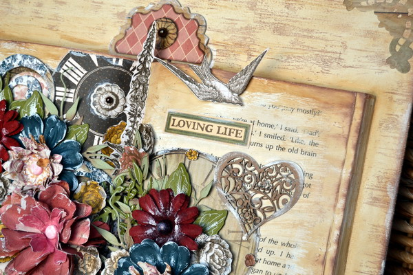 Altered Book Canvas by Denise van Deventer using BoBunny Provence Collection