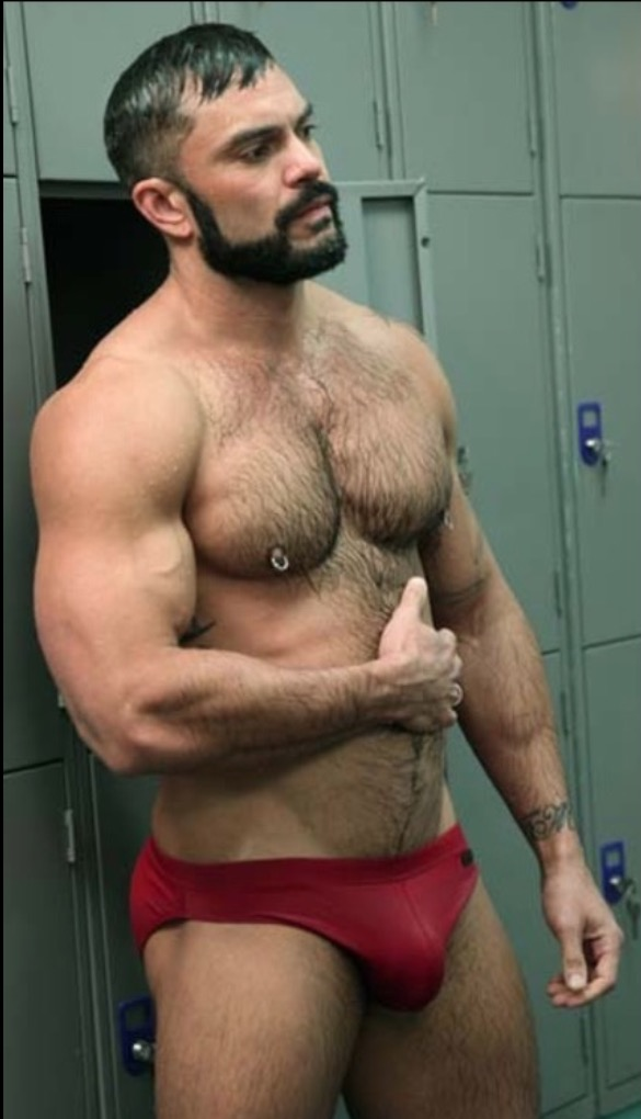 hairy naked chubby bears up in the woods
