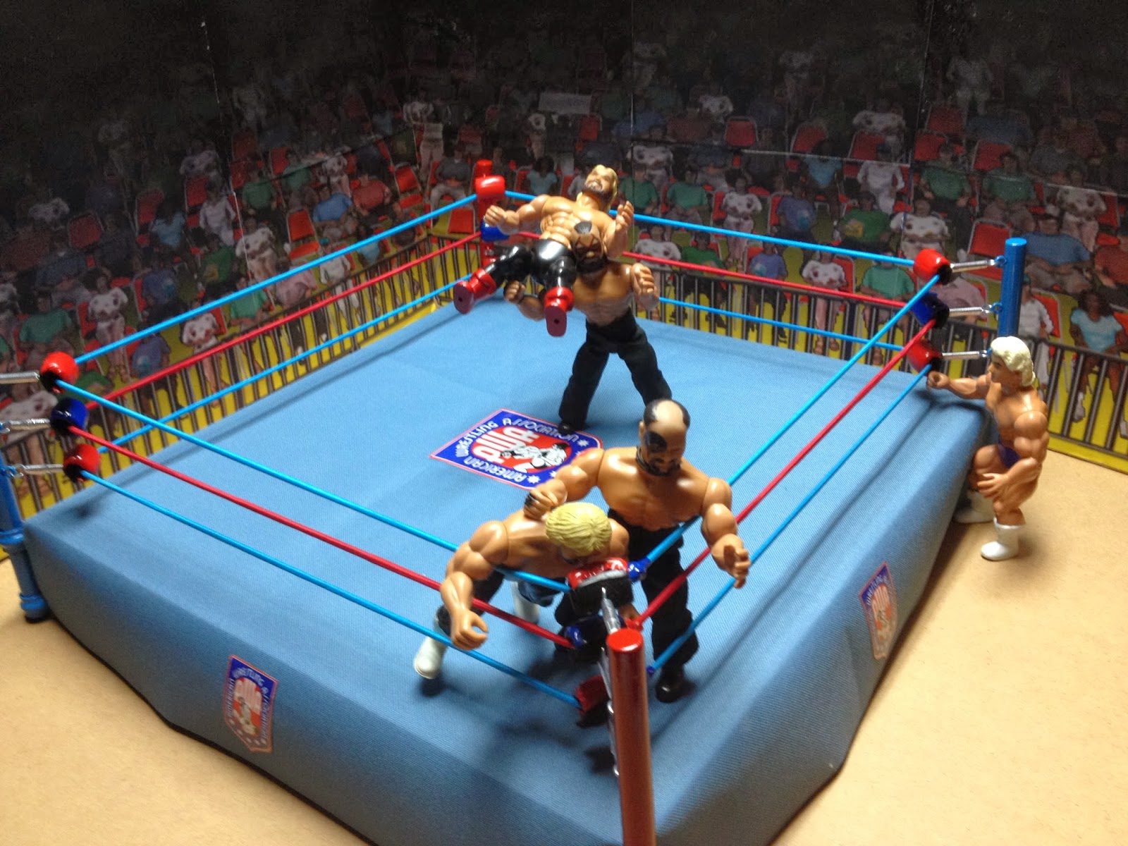 custom remco awa wrestling ring wrestlingfigs com wwe figure forums