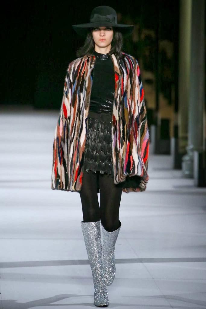 Saint Laurent Paris Fashion Week Otoño Invierno 2014-2015