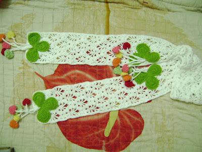 Học cách móc khăn len hình cỏ ba lá cực teen 1