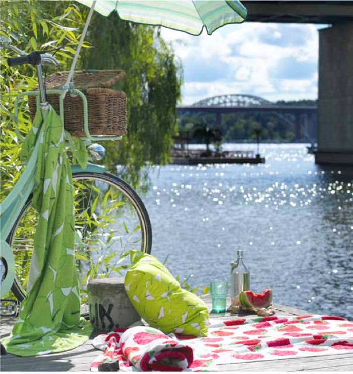 Ikea summer in the city sweden poppytalk for Ikea beach towels