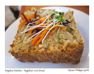Image of Corn bread at Angelica Kitchen in NYC, New York