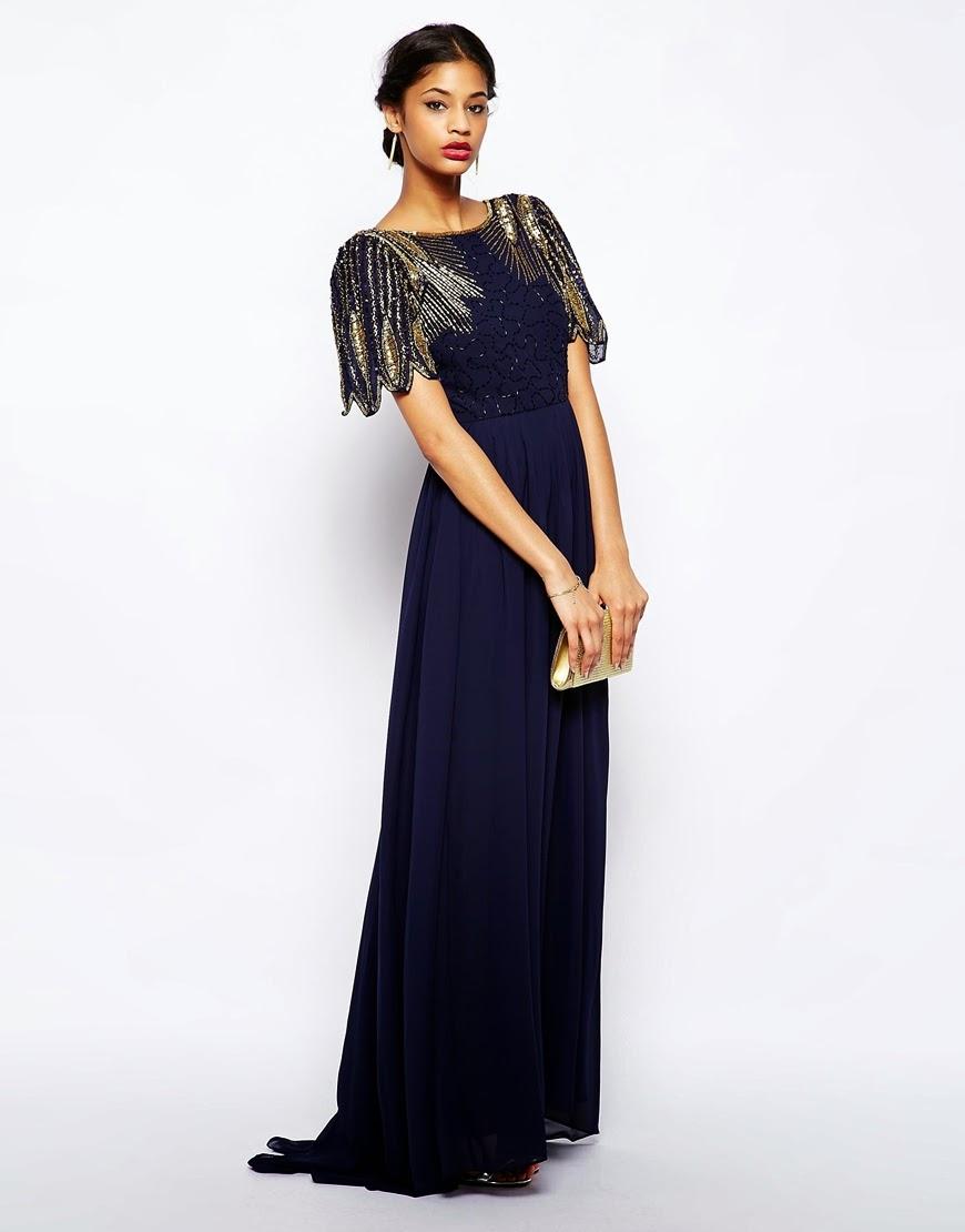 Virgos Lounge long blue dress