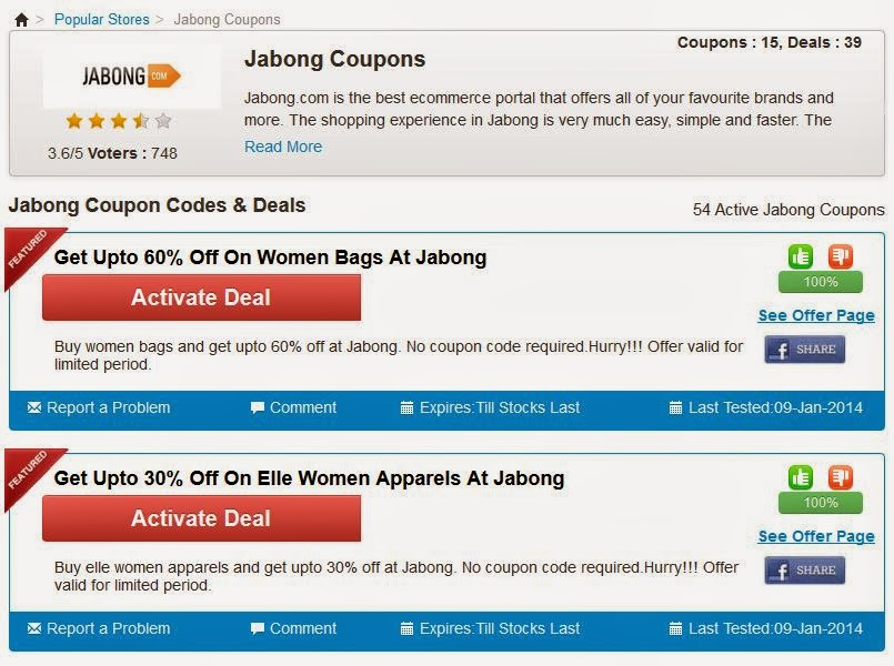 Jabong Coupons for Off - Get a flat Rs Off on your next purchase. Chose from various brands like Nike, Adidas, Mango, Dorothy Perkins etc. Jabong Off Coupon - Use coupon code BEST to get a Flat Off on your cart items.5/5(K).