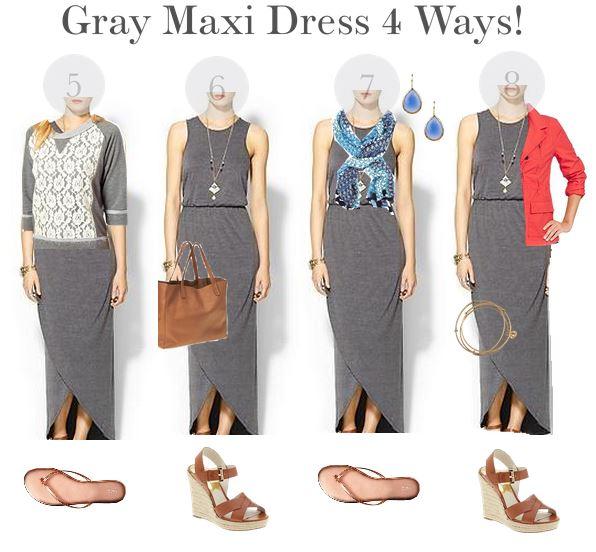 Grey maxi dress outfit