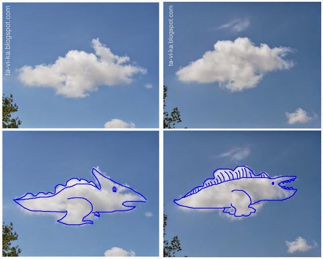 облака похожие на динозавров