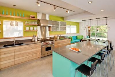 cocina muy colorida