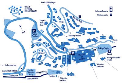 plan de la station de ski de gourette pyrénées