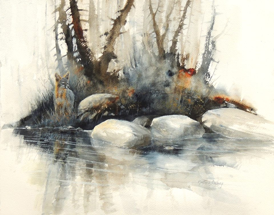 The watercolour log watercolour paintings 11 for Watercolor art prints for sale