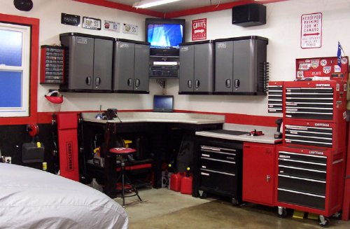 The Best Way To Organize Your Garage Workbench | Garage Workbench How To Organize Your Garage on how can i hang my garage shelving, clean your garage, wooden workbench kits for garage, cleaning out your garage, space organizing your garage, organize my garage,