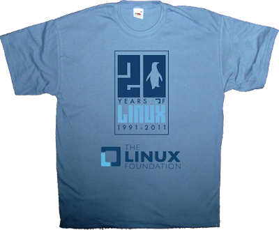 linux anniversary open source free software t-shirt ephemeral-t-shirts