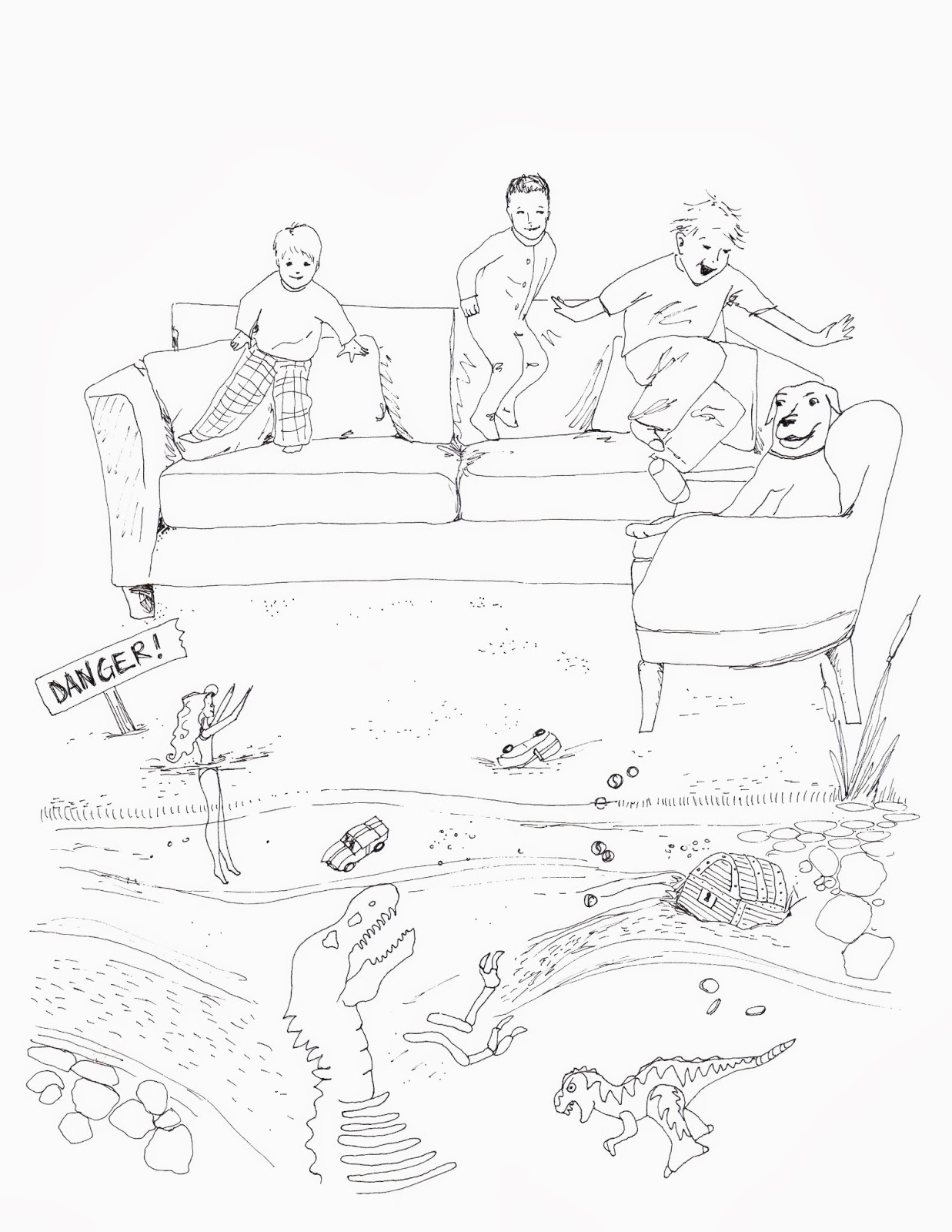 Tiny Drawings: Quicksand Illustration for Zombie Logic Press