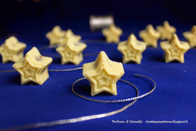 cioccolatini di cioccolato bianco ripieni di nocciolata - la mia notte stellata