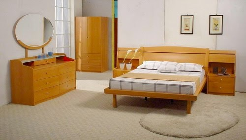 luxury japanese bed furniture set model
