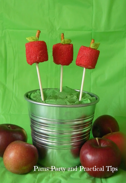 How to make apple themed pops