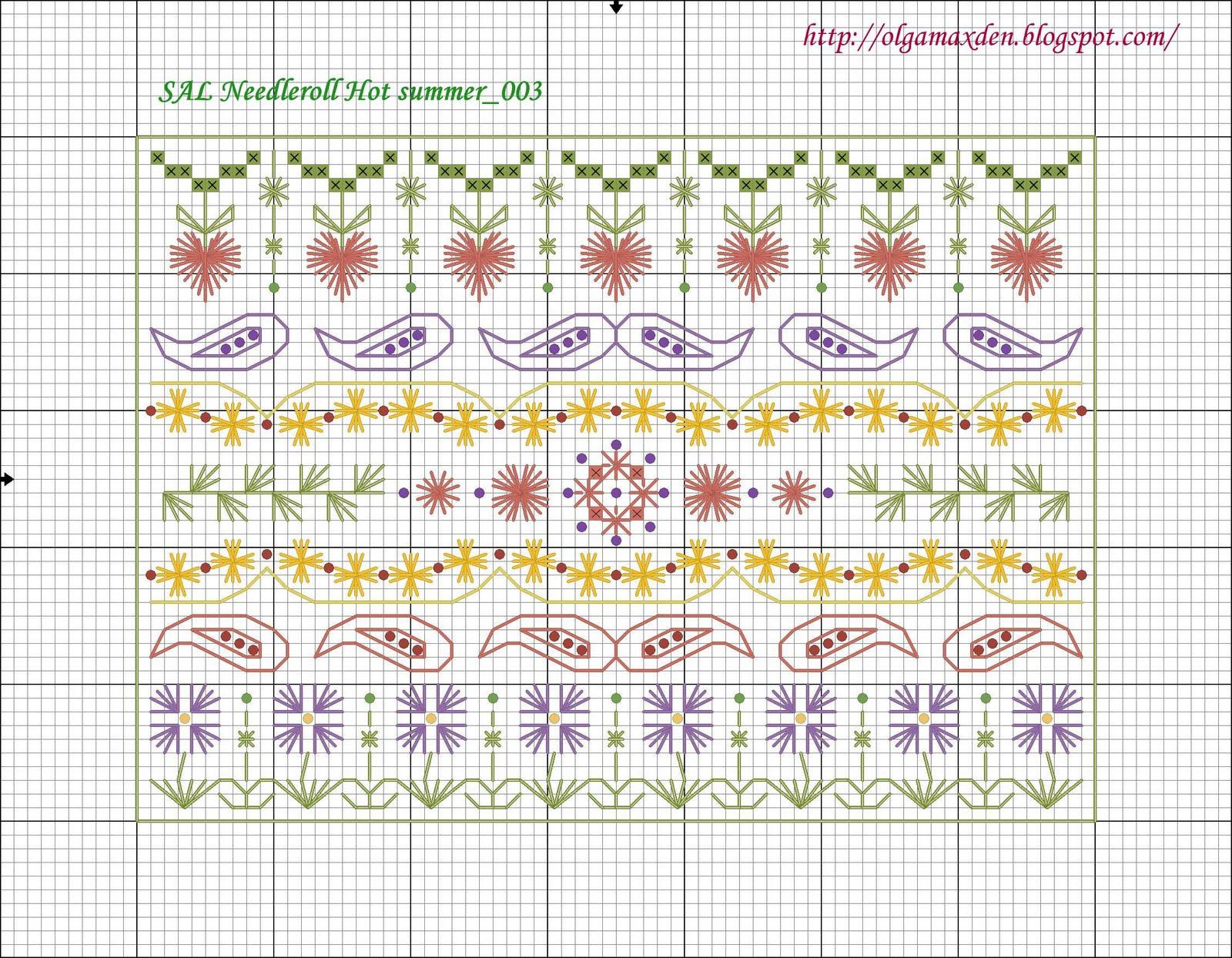 Схема для вышивки шовчиковая 130