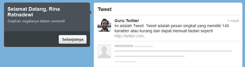 Ucapan Selamat Datang Twitter