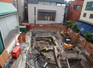 A VIKING SETTLEMENT Has Been Uncovered In Temple Bar During Building Work To Build Retractable Canopy Over Meeting House Square