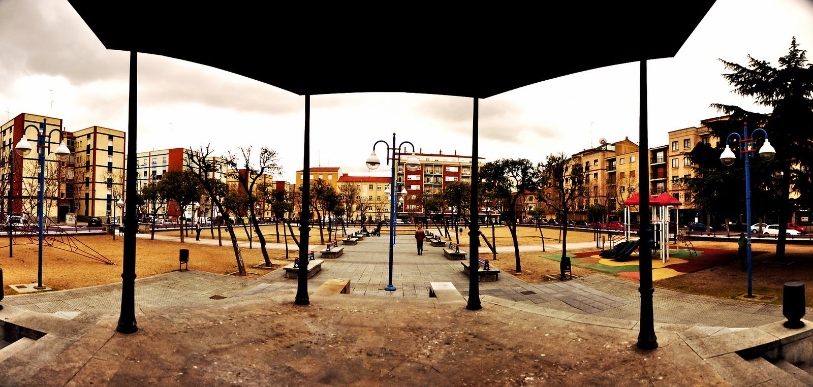 Parque de Garrido, salamanca, bici