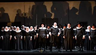 Wojtek Gierlach, David Kempster and ensemble - Bellini I Puritani - Welsh National Opera - photo Bill Cooper