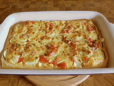 Tomaten-Zucchini-Quiche